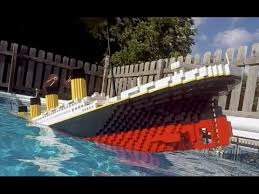 sinking lego titanic 7 foot model youtube