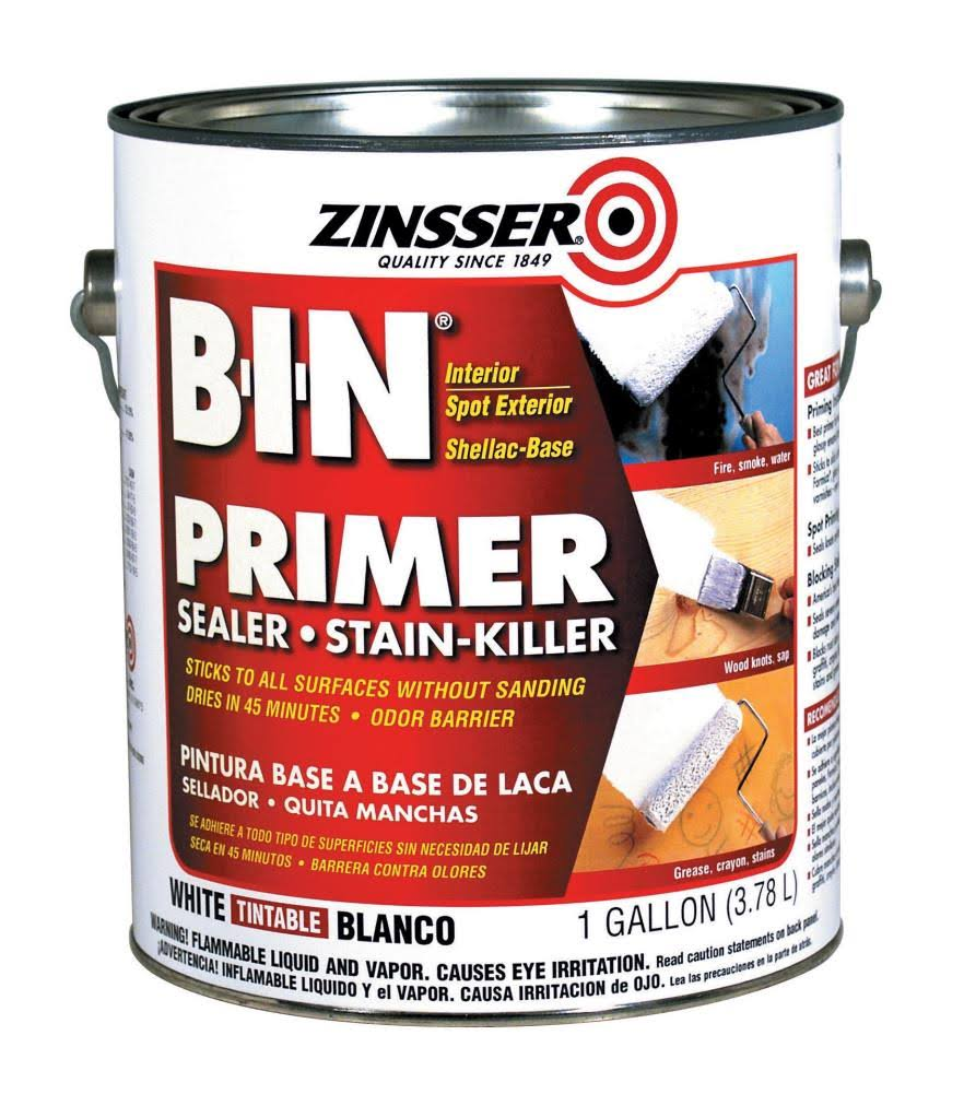 Zinsser B-I-N Shellac-Base Primer - White, 3.78l