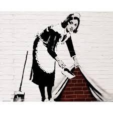femmes de chambre banksy poster femme de chambre balayé au des achat vente
