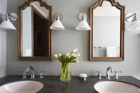 Industrial Bathroom Cabinet Mirror by Transitional Moroccan Industrial Bath In Glen Ellyn The Kitchen