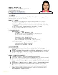 Sample Resume For A Nurse And Example Nurses Examples Of Resumes Nursing Cover Letter Position