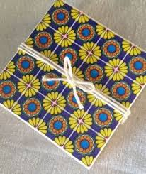 handmade mexican talavera flowers ceramic tile drink coasters