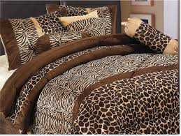 Animal Print Bedroom Decorating Ideas by Amazon Com Home Collection Safari Zebra Giraffe Print Brown