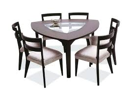 Exotic Triangle Shaped Dining Room Table Exquisite Decoration Peachy Design With Benches