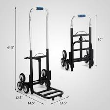 100 Hand Truck Vs Dolly Portable Stair Climbing Folding Cart Climb Moving Up To 420lb