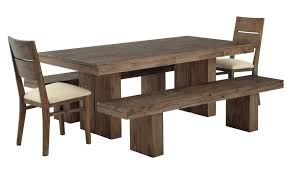 Dining Tables Furniture Diy Solid Wood Farmhouse Table With Double Bench Seat And Chairs White