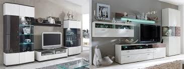 wohnwand weiß hochglanz modern vom designer hängend tv