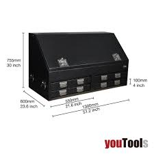 Truck Toolbox 1300 Mm 4-Drawer Heavy Duty Lockable T-bar Handle ...