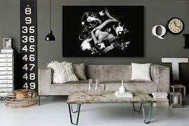 toile chambre déco noir et blanc elégance assurée toile design et moderne