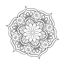 Coloring Page Adult Pages Mandala And New