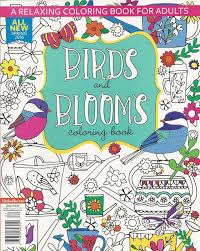 Birds And Blooms A Relaxing Coloring Book For Adults Spring 2016