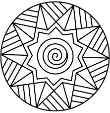 Simple Mandala Coloring Pages Printable Preschool To Fancy Free