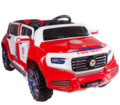 100 Kid Trax Fire Truck Parts Amazoncom 4Door Ride On Two Seater Electric Toy Car