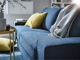 This Dark Blue KIVIK Two Seat Sofa Has A Soft Deep And Comfortable