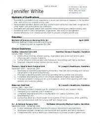 Resume Examples For Nurses In Icu With Sample Ical Nurse Employed Student