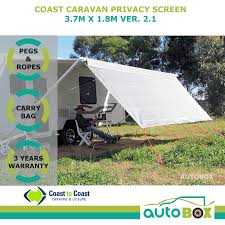 100 7m To Feet Coast Carvan Privacy Screen 3 X 18m Suits 13 Feet Rollout Awnings Autobox