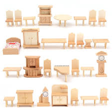 DIY Mini Doll Rocking Chair Accessories For Doll House Room Dollhouse Decoration Rocker Toys Children Kid Barbie Doll Deluxe Bedroom