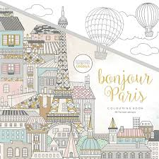 KaiserColour Perfect Bound Coloring Book Bonjour Paris 975inx975in