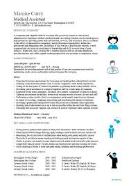 English Resume Example Medical Assistant 2 Teacher Format Doc
