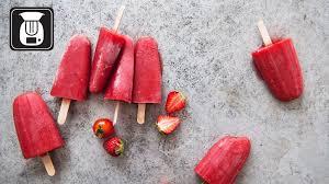 tomaten erdbeer eis am stiel für den thermomix