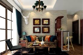 Living Room Wall Decoration In Retro And Rustic Style