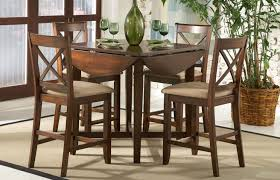 Furniture Dining Room Small Tables Varnished Wood Table With Extension