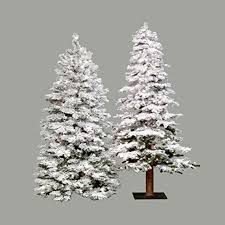 5ft Pre Lit Christmas Tree Sale by 5 Ft Flocked Spruce Alpine Medium Pre Lit Christmas Tree Http