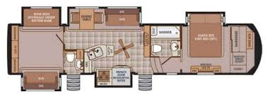 Fifth Wheel Bunkhouse Floor Plans by New 2015 Forest River Rv Trilogy 37bh Fifth Wheel At Fun Town Rv