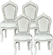 luxus pur ug esszimmerstühle weiss barockmöbel antik stil