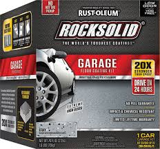 Rocksolid Garage Floor Coating Kit by How To Apply Rust Oleum Rocksolid Garage Floor Coating Do It Best