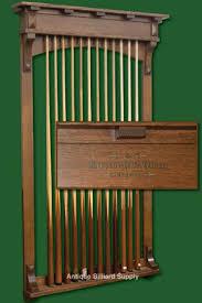 Antique Billiard Supply Brunswick Mission style cue rack