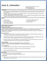 Medical Technologist Resume Example Format Sample Professional Samples Lab