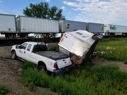 100 Train Vs Truck Pickup Driver Escapes Injury In Collision With Train East Of