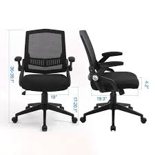 Ergonomic Office Chair, Mid Back Computer Desk Chairs With Massy Cushion  And Flip-up Arms, Swivel Task Chairs - Agile Height Adjustment, Load Up To  ...