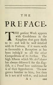First Page Of The Preface To Letters Concerning English Nation London 1733