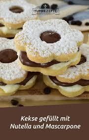 kekse gefüllt mit nutella und mascarpone yum rezepte