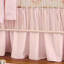 Pink Ruffled Window Curtains by Solid Pink Crib Skirt Gathered Carousel Designs