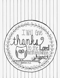 I Will Give Thanks Psalm 92 Coloring Page