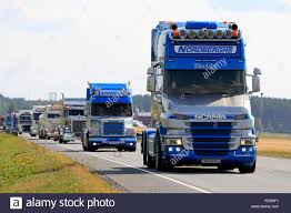 LUOPAJARVI, FINLAND - AUGUST 9, 2018: Nordberghs Scania Trucks In ... Convoy In The Park Caravan Destruction Truck Racing And So Much Bill Gates Jeff Bezos Back Uber Trucking Rival Business 595truck Convoy Turns Out For Annual Mothers Day Show Benefiting Special Olympics Montana Worlds Largest Truck 2013 Nova Scotia Wealthy Backers Get Trucking Company On Road To Success Green Peterbilt 359 Tank In Editorial Photography All Latest 2010 Pinterest Trucks Oemand App Development 3 Simple Strategies By Cause We Got A Mighty Google Parent Alphabet Backs Technology Startup