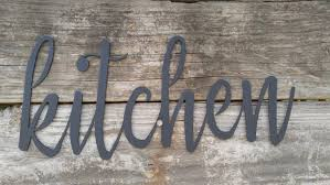 Metal Kitchen Signs Farmhouse Wall Decor Words Rustic Sign Word Art