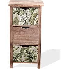 mobili schrank schubladenkommode holz braun grün stil modern schlafzimmer einrichtung 65x34x27 h x b x t re6131