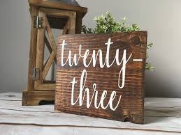 Used Rustic Wedding Decor Diy Table Numbers For Stuff