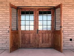 Rustic Double Entry Doors With Glass