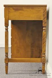 Ethan Allen Townhouse Curio Cabinet by High End Used Furniture Ethan Allen Heirloom Nutmeg Maple Crp 48