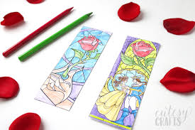 Free Beauty And The Beast Coloring Page Bookmark Printables