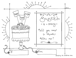Astounding Easter Church Invitation For Kids Printable With Christian Coloring Pages And