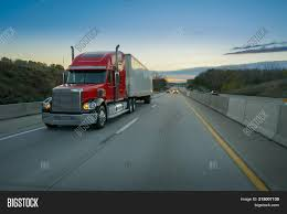 Red Semi-truck Tractor Image & Photo (Free Trial) | Bigstock
