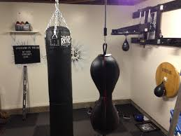 Punching Bag Ceiling Mount by Converted 1 2 Of My Garage Into A Boxing Gym Garage Gym