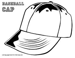 MLB Baseball Hat Coloring Pages Printable