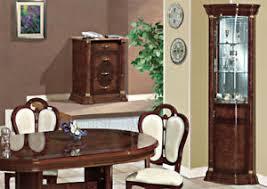 details zu eckvitrine wohnzimmer esszimmer eckschrank nussbaum hochglanz stil möbel italien